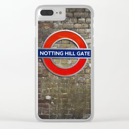 Notting Hill Gate Tube Sign Clear iPhone Case