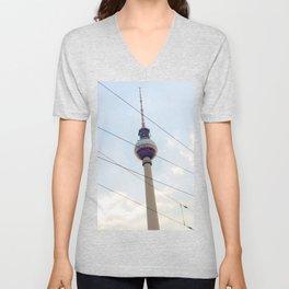 Berliner Fernsehturm Unisex V-Neck