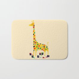 Paint by number giraffe Bath Mat