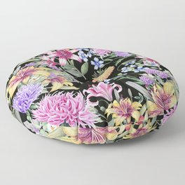 FLORAL GARDEN 3 #floral #flowers #vintage Floor Pillow