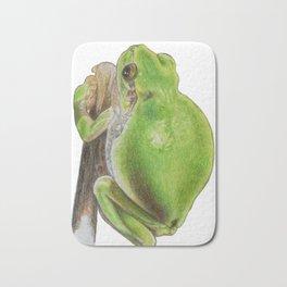 Plump Green Tree Frog Bath Mat