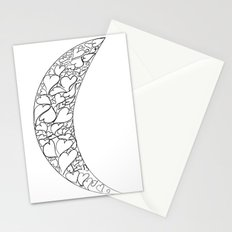 A Moon full of hearts Stationery Cards