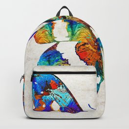 Colorful Butterfly Art by Sharon Cummings Backpack