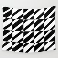 grid Wall Tapestries featuring Grid by Laura Maria Designs