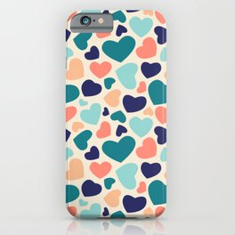 Irregular heart shapes colors iPhone Case