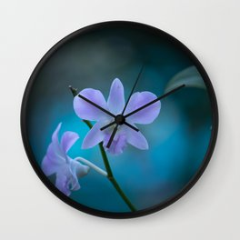 Purple Orchids Wall Clock