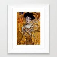 klimt Framed Art Prints featuring klimt by Antonio Lorente