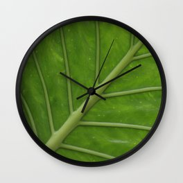 Elephant Ear Leaf Wall Clock