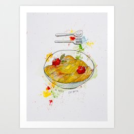 Pasta Basta Art Print
