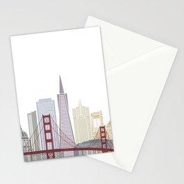 San Francisco skyline poster Stationery Cards