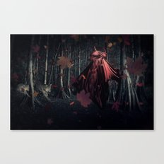 Little Miss Red Riding Hood Canvas Print