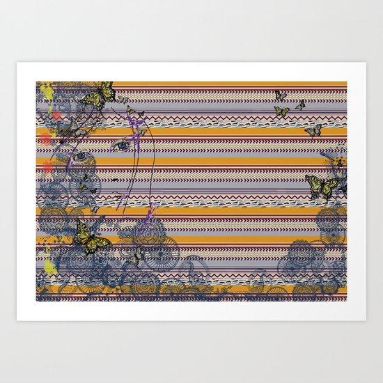 Blends of Aztec Art Print
