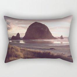Cannon Beach Sunset Rectangular Pillow