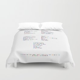Phoenix Discography in Colour Code Duvet Cover