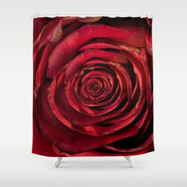 Red Rose Inception Shower Curtain