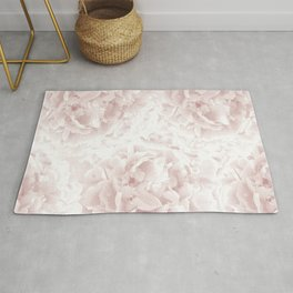 Blush Rose Peonies Dream #1 #floral #decor #art #society6 Rug