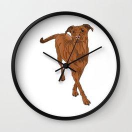 Dog Portrait 2 Wall Clock