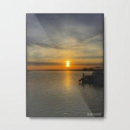 Sunset Over Bay Metal Print