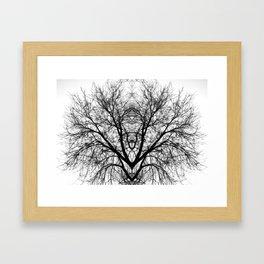 The symmetry of souls Framed Art Print