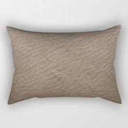 Leather Texture (Grey) Rectangular Pillow