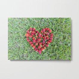 Strawberries heart Metal Print