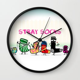 Stray Socks Wall Clock