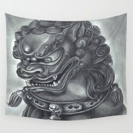 Guardian Lion Wall Tapestry