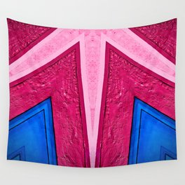 Pink in Blue Wall Tapestry