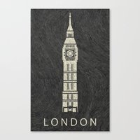 london Canvas Prints featuring London by NJ-Illustrations