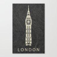 london Canvas Prints featuring London by Les petites illustrations