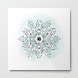 Christmastrehousesnowflake 2 Metal Print