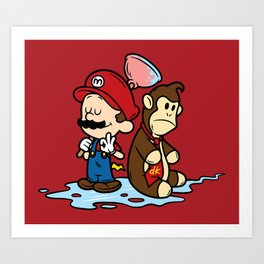 Mario and Kong Art Print