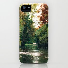 Lake side at Battersea Park, London // Film Photography iPhone Case