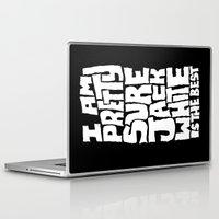 jack white Laptop & iPad Skins featuring Jack White by Chris Piascik