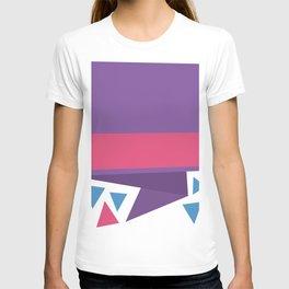 Triangle fragment ribbon title box T-shirt