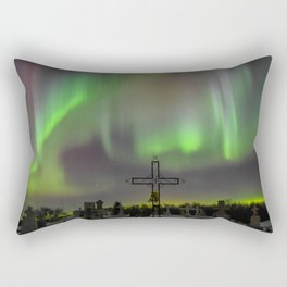 Ghostly Northern Lights Rectangular Pillow