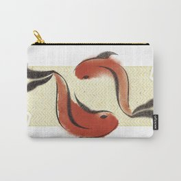 Koi Pond - Two Red Koi Carry-All Pouch