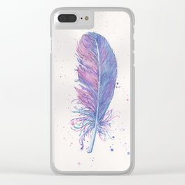 Dreamy Feather Clear iPhone Case