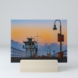 Early Morning at San Clemente Pier Mini Art Print