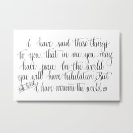 Take Heart Metal Print