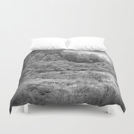 Magnificent River in Black and White Duvet Cover