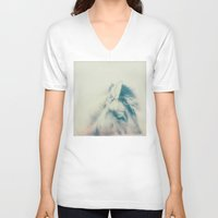 pony V-neck T-shirts featuring pony by cOnNymArshAuS