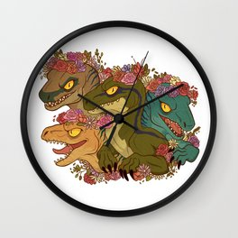 Raptor Babes Wall Clock