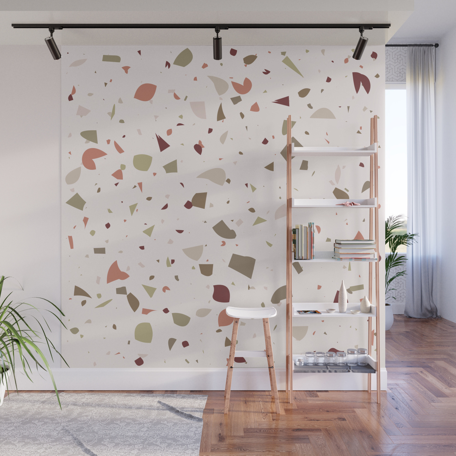 Classic Terrazzo Marble Floor Pattern Background Wall Mural By Drawfine Society6