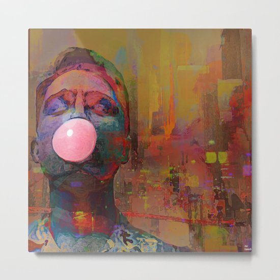 bubble gum  boy Metal Print