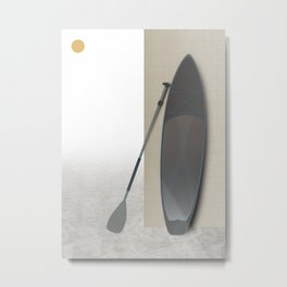 Surf Paddle Board Metal Print