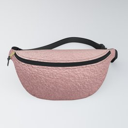 Pure Rose Gold Metal Pink Fanny Pack