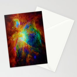 Orion NEBula  : Colorful Galaxy Stationery Cards