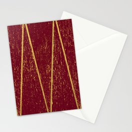 Burgundy Gold Stationery Cards