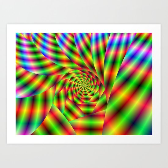 Psychedelic Spiral Art Print